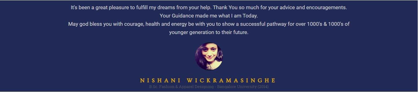 nishani wickramasinghe new